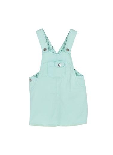 Silversun Kids Kız Bebek Cepli Askılı Dokuma Elbise Ek 115856 Mavi